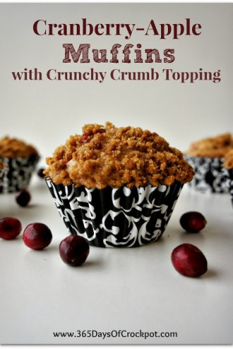Recipe for Cranberry Apple Muffins with Crunchy Crumb Topping