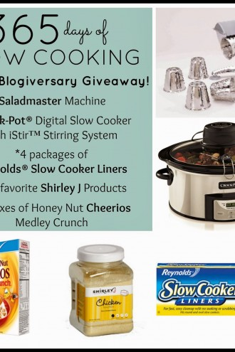 5-Year Blogiversary for 365 Days of Slow Cooking and an Awesome Giveaway of Some of My Favorite Things!