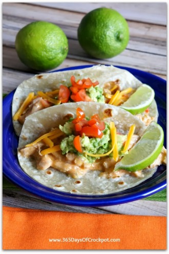 Recipe for Slow Cooker Sour Cream Chicken Taco Filling