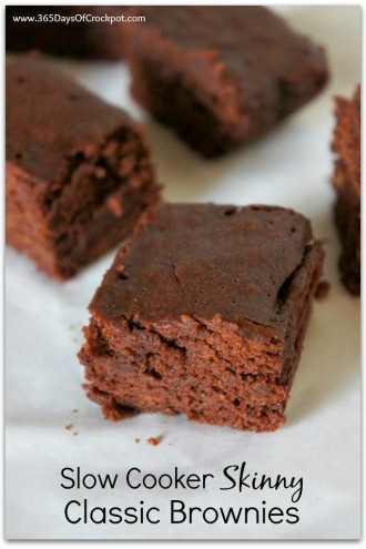 Slow Cooker (Lightened Up) Classic Brownies