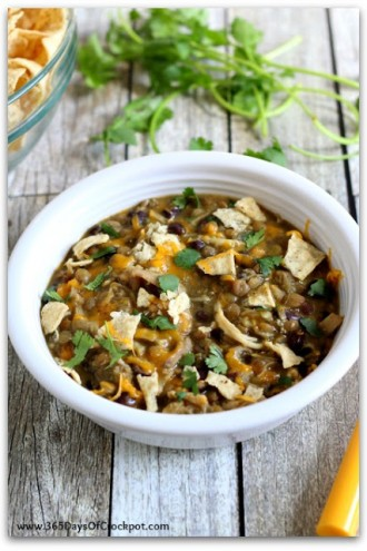 Slow Cooker Cheesy Chicken and Lentils