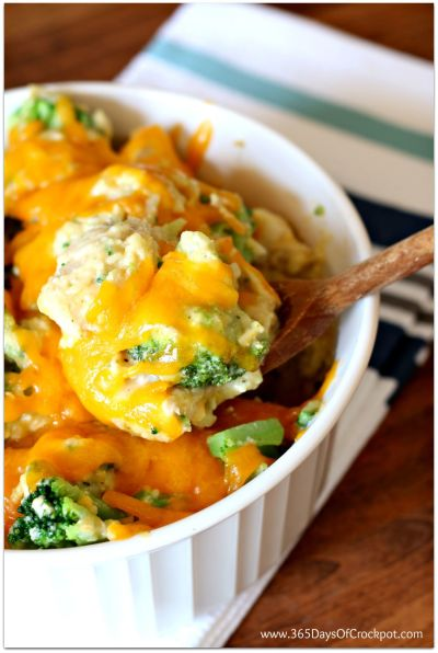 An easy slow cooker version of one of our favorite casseroles of all time--Cheesy Chicken, Broccoli and Rice Casserole!