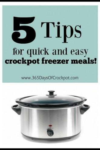 5 Tips for Quick and Easy Crockpot Freezer Meals (+video)