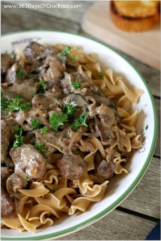 Slow Cooker French Onion Beef Stroganoff (can be a freezer meal)
