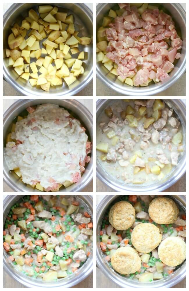 How to make chicken pot pie in the slow cooker