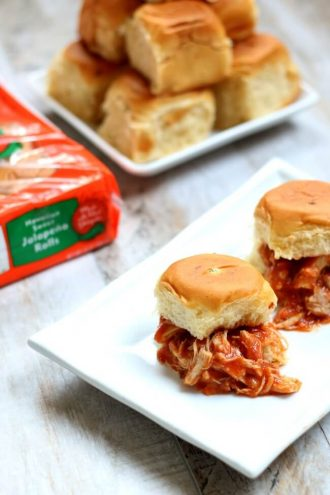 Spicy Chipotle Chicken with Hawaiian Sweet Jalapeno Rolls