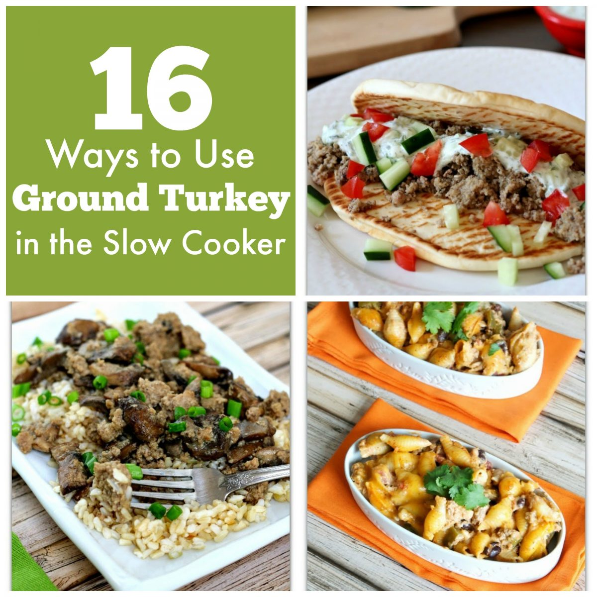 16 recipes and ideas of ways to use ground turkey in the crockpot