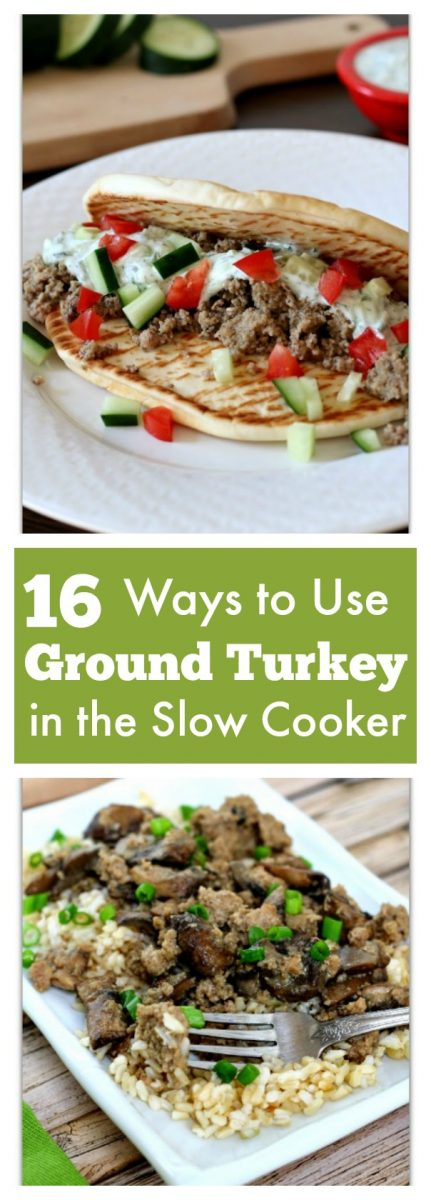 16 ways to use ground turkey in the slow cooker