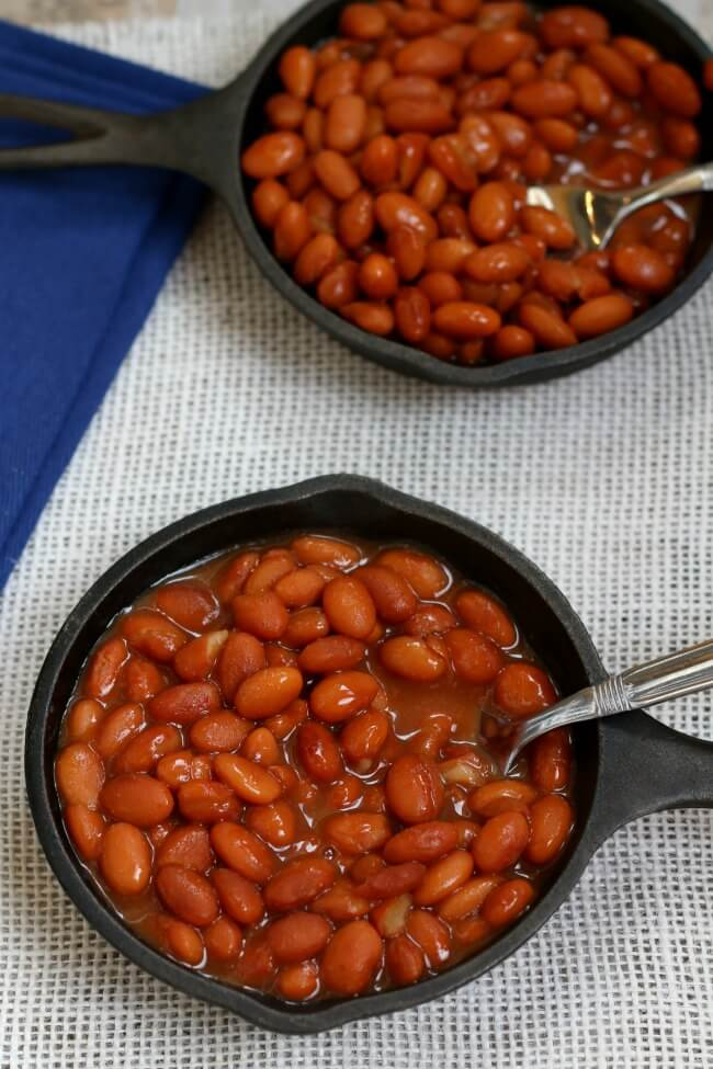 recipe for slow cooker savory baked beans