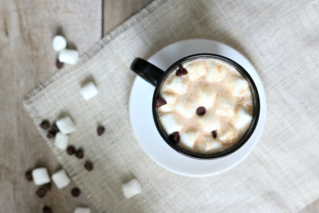 Slow Cooker Peanut Butter Hot Chocolate--chocolate and peanut butter are made for each other and they make a perfect creamy combination in this crockpot peanut butter hot chocolate recipe.