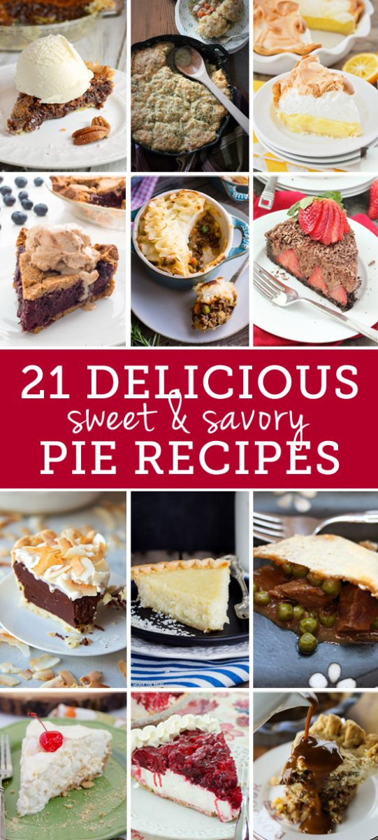 21 delicious sweet and savory pie recipes
