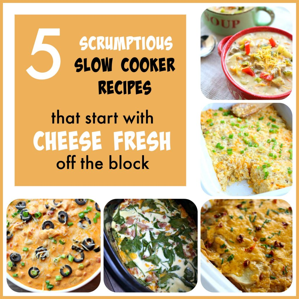 5 scrumptious slow cooker recipes that start with cheese fresh off the block cheese