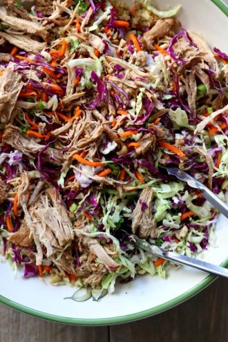 Slow Cooker Chopped Chinese Pork Salad