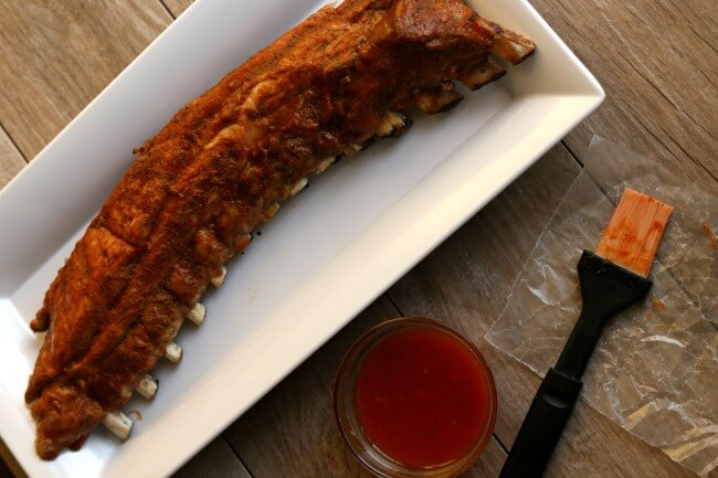 Instant Pot Kansas City Baby Back Ribs—the easiest to make fall off the bone ribs made with a homemade Kansas City style rub and simple barbecue sauce.