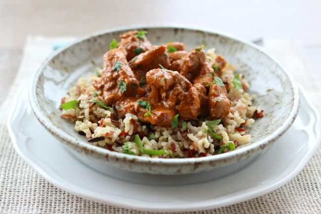Instant Pot Butter Chicken--an easy, no-fuss method of making your favorite Indian dish at home. This recipe calls for just a handful of ingredients that you can find at a normal grocery store. We love to eat this chicken and succulent sauce over rice or with naan bread.