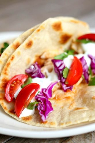 Alaska Cod Fish Tacos with Garlic Lime Sour Cream (slow cooker, instant pot or oven)