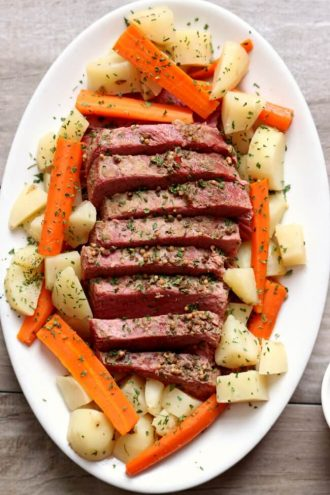 Instant Pot Corned Beef Dinner with Mustard Sauce