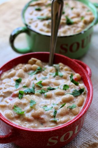 Homemade White Chili (Instant Pot or Slow Cooker)