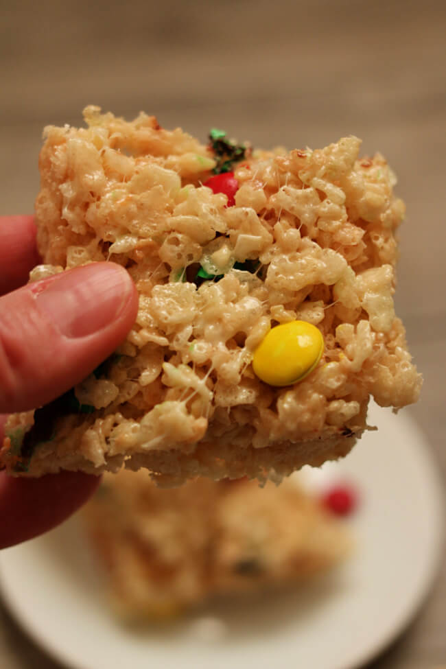 Instant Pot Rice Krispy Treats --use your Instant Pot's saute functionto quickly make a double batch of rice krispy treats. Stir in some m&ms to make them even better.