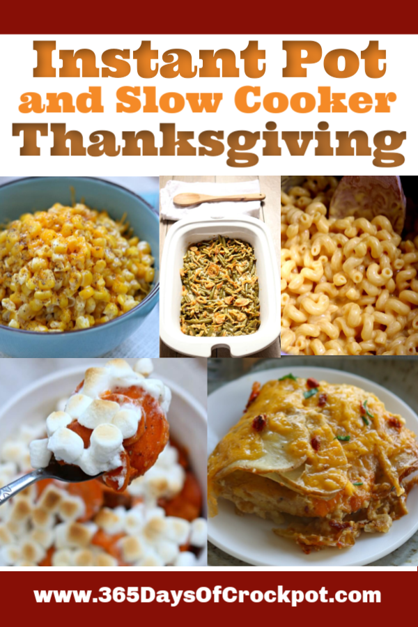 Slow Cooker and Instant Pot Thanksgiving Recipes