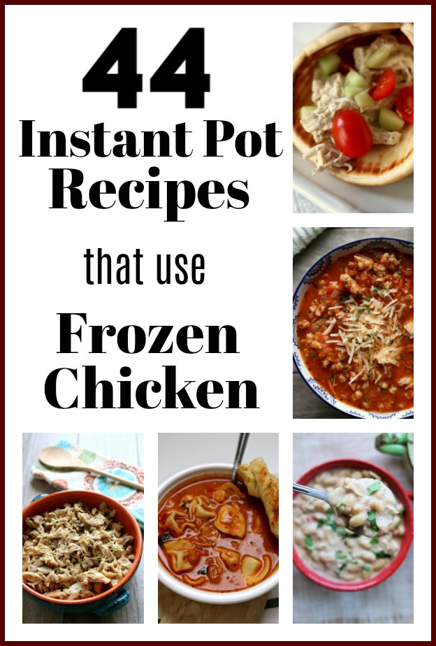 Sometimes you have a bag of frozen chicken in your freezer and only a few minutes to cook dinner. Don't worry! The Instant Pot will save the day. Here are 44 recipes you can make in the Instant Pot with frozen chicken breasts.