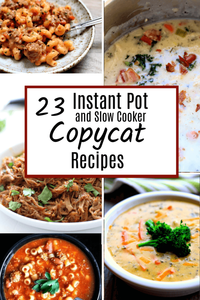 Do you love eating out but don't love what it does to your budget? You can eat well at home! And it doesn't have to be hard or expensive. These copycat recipes can be made in your Instant Pot or slow cooker and taste pretty close to the real thing.