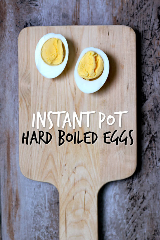 Instant Pot Hard Boiled Eggs Recipe--easy to peel hard boiled eggs without the gray ring around the yolk, made in your pressure cooker.