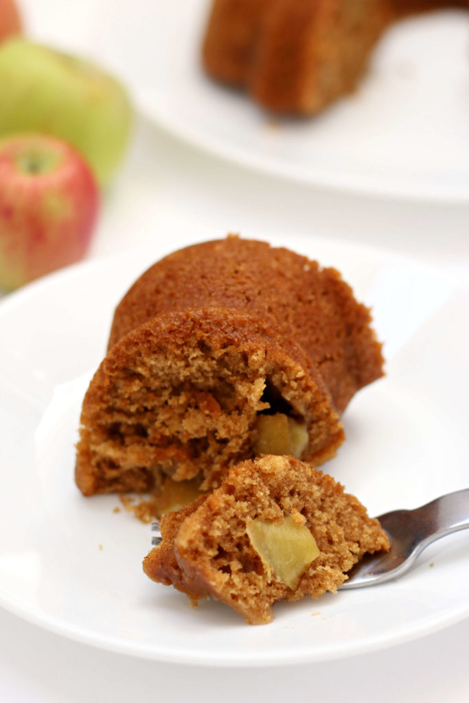 Instant Pot Apple Cake--a moist apple cake that isn't overly sweet and has the taste of fall with cinnamon and chopped apples. I also give you directions for how to bake it in the oven.