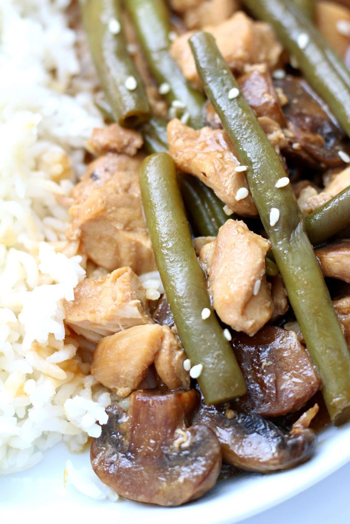 green beans and chicken