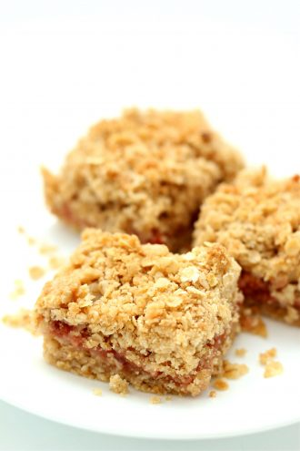 Cherry Oat Bars with homemade Instant Pot cherry pie filling
