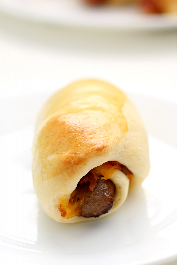 sausage wrapped in dough