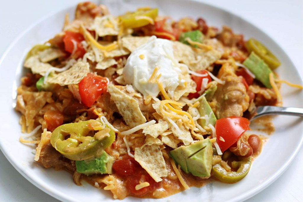 Instant Pot nacho chicken and rice