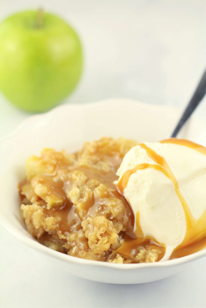 Instant Pot Salted Caramel Apple Crumble